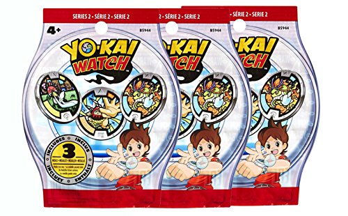 Sachets de 3 médailles Yo-Kai Watch - x3