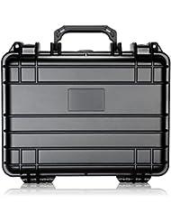 Neewer® 33x 25,4x 15,2cm/33x 25x 15cm Housse de transport imperméable avec cubes en mousse pour appareil photo et d'autres accessoires (Noir)