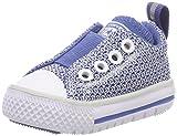 Converse Unisex Baby Ctas Hyperslip OX Pure Platinum Baby Krabbelschuhe, Blau (Pure Platinum/Nightfall Blue 020), 19 EU