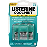 Listerine Pocketpaks, Cool Mint, 72 Count