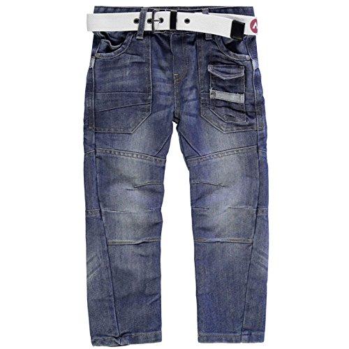 airwalk-ninos-cinturon-cargo-vaquero-infantiles-denim-pantalones-casual-ropa-abajo-azul-4-anos