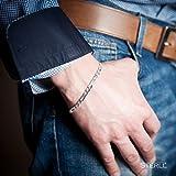 STERLL Herren-Armband aus massivem 925 Silber, 23 cm lang, ideal als Geschenk für Mann oder Freund, mit Schmuckbox - 3