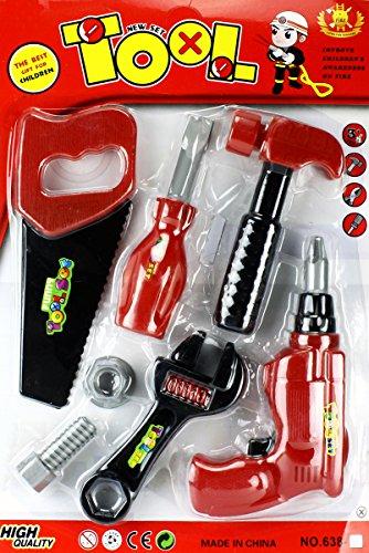 GYD Handwerker-Set XXL Hammer Bohrmaschine Zange (Der Kind Baumeister Bob Kostüm)