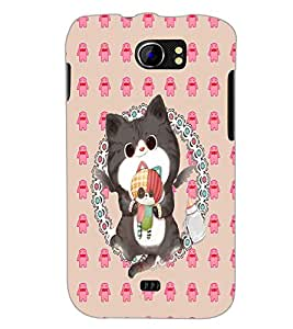 PrintDhaba Kitty D-4267 Back Case Cover for MICROMAX A110 CANVAS 2 (Multi-Coloured)