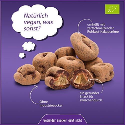 Preisvergleich Produktbild Bio rohe schokolierte Ingwer Stücke 500g / Ingwer Würfel / Ingwer Pralinen (Ginger) getrocknet und kandiert in Edel Criollo Schokolade aus Peru (Rohschokolade 100%) mit Kokosblütenzucker in Rohkost-Qualität,  vegane Schokolade (vegan),  LAKTOSEFREI,  ohne Industrie Zucker (ungezuckert),  ohne Milch,  GLUTENFREI,  gesund und ideal als Süßigkeiten-Ersatz,  für Fitness,  zum Abnehmen (Diät) oder als Büro-Snack,  Trockenfrüchte schokoliert,  ungeschwefelt