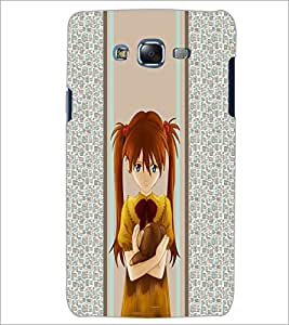 PrintDhaba Sad Girl D-4263 Back Case Cover for SAMSUNG GALAXY ON 5 (Multi-Coloured)