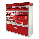 Monster Racking Firecracker Aufbewahrungseinheit für die Garage, 101,6 x 115,8 x 36 cm, Rot Vergleich