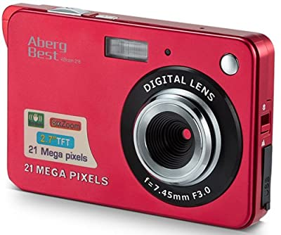 "Aberg Best 21 Mega Pixels 2.7"" LCD Rechargeable HD Digital Camera - Digital video camera - Students cameras - Indoor Outdoor for Adult/Seniors/Kids (Silver)"