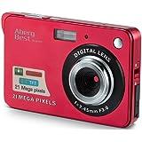 """AbergBest 21 Megapixel 2,7""""LCD wiederaufladbare HD Digitalkamera Digitale Videokamera Studentenkamera Indoor Outdoor für Erwachsene/Senioren/Kinder (Rot)"""