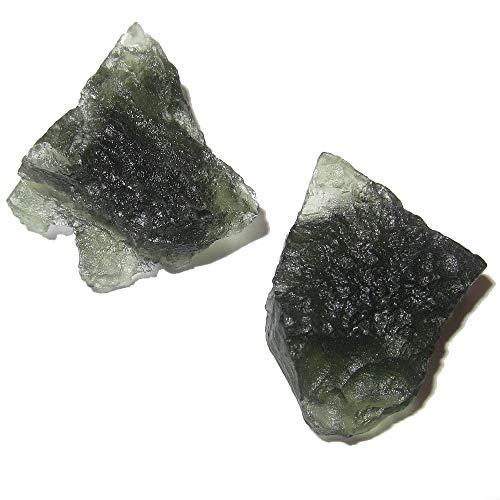 SatinCrystals Meteorit Moldavit Meditations-Edelsteine aus Chlum, Tschechische C62 - Pfeile 2,5 cm Die Globale Kommunikation