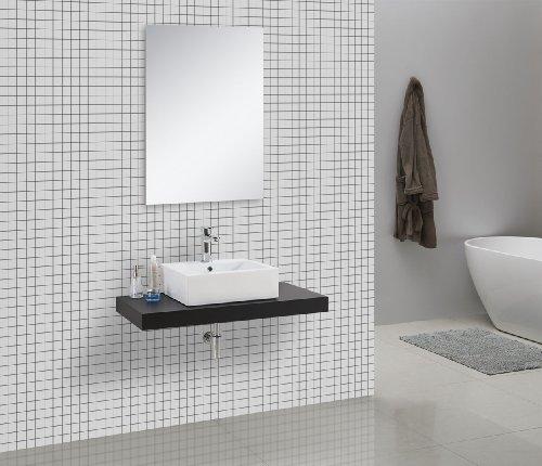 Mensola console per lavabo cadena, in legno