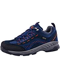 TFO Damen Mid Waterproof Trekkingschuhe & Wanderschuhe Atmungsaktive Bergschuhe & Outdoor Schuhe mit Anti-Rutsch-Sohle, Dunkel Grau, 37 EU