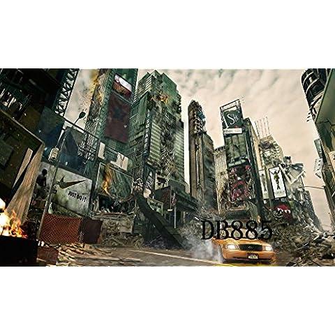 Sottile in vinile Studio CP fotografia prop sfondo per City disastro 2,4x 2,4m db885