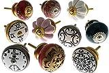 Gemischt Set von Vintage Shabby Chic Küchenschrank Knauf x 10er packung (MG-11)