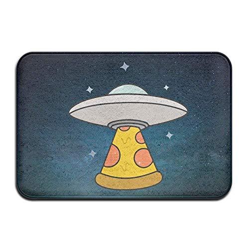 kjhglp Kawaii Pizza UFO Non-Slip Doormat Floor Door Mat Indoor Outerdoor Bathroom 23.6 X 15.7 Inch -