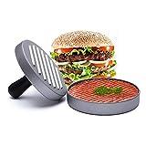 VOARGE Hamburger Presse Aluminium Burger Presse, Antihaft Burgerpresse, perfekte Hamburger Form Ideal für BBQ Life Time Warranty, Perfektes Grillzubehör Oder Geschenk für Mann, Vater, Ehemann