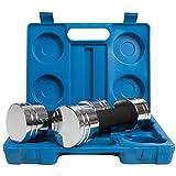 ScSPORTS Chrom Hantelset im Koffer blau 111C0002, 10000054 - 2