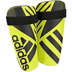 adidas Ghost Lite - Espinilleras, color amarillo, talla S