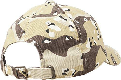 Flexfit Low Profile Camo Washed Cap Unisex Kappe für Damen und Herren,  Base Cap mit Camouflage Muster und Schnallenverschluss retro desert camo