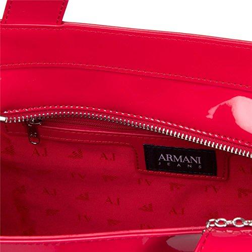 Armani Jeans Small Patent Femme Handbag Rouge Rouge