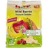 Hipp Biologique Mini Barres Fruits/Céréales 2 Variétés dès 12 mois - 6 sachets de 100 g