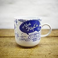 Kaffeebecher - 100% Handmade von Ahoi Marie - Motiv Unterwasserwelt - Maritime Porzellan-Tasse original aus dem Norden