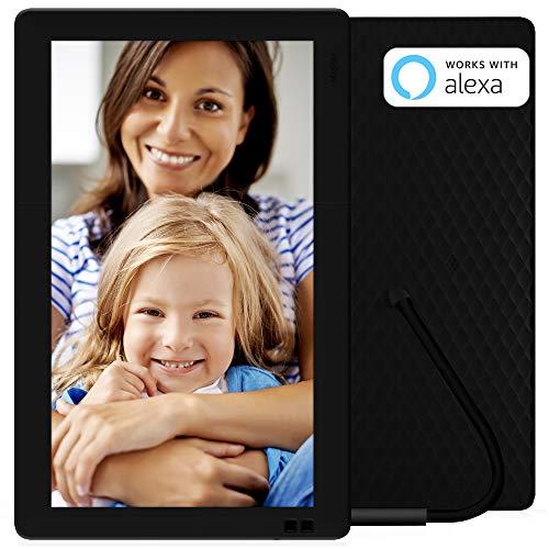 NIXPLAY Seed WLAN Digitaler Bilderrahmen 13 Zoll W13B. Fotos & Videos per App oder Email an den Elektronischen Fotorahmen übertragen. IPS Display. Auto On/Off Funktion (Hu-Motion Sensor)