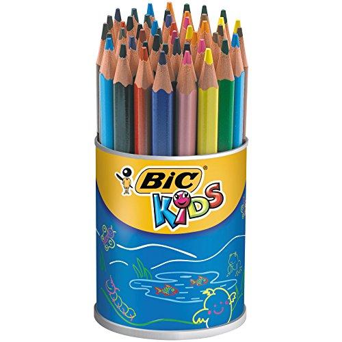 BIC KiDS Evolution - Lápices de colores (Bote de 48)