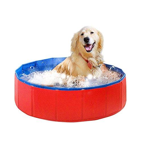 asbyfr–Faltbares Hundebad, Hundebadewanne, Schwimmbad für Haustiere, PVC, für innen und außen, Größe S, M,