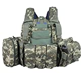 Militare esercito resistente molle combattimento gilet/gilet di sicurezza Traning W/Pouch de tan per...