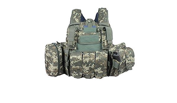 Gilet tactique Pellor pour homme Protection pour airsoft Avec 3/poches amovibles pour accessoires