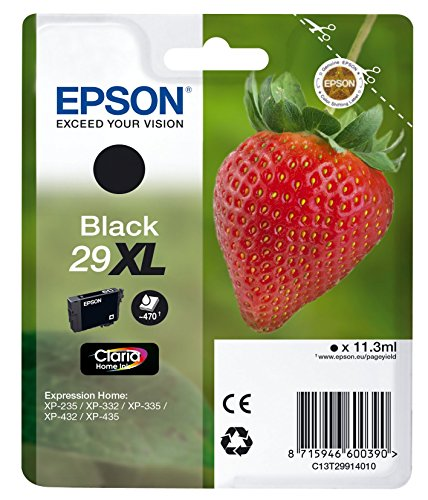Epson 29 Serie Fragola, Cartuccia Originale Getto d'Inchiostro Claria Home, Formato XL, Nero, con Amazon Dash Replenishment Ready