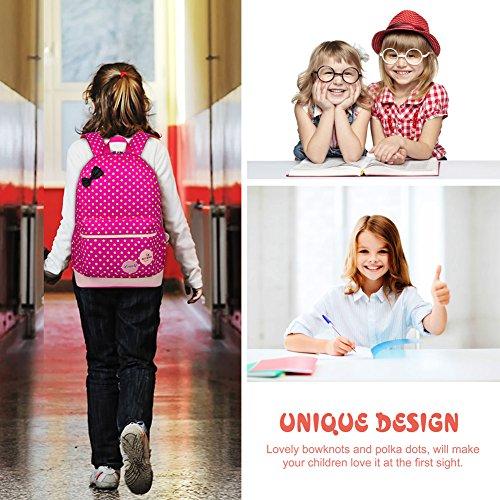 Imagen de vbiger  infantil para niña, con bolsa para almuerzo y bolsito para el móvil, fucsia alternativa