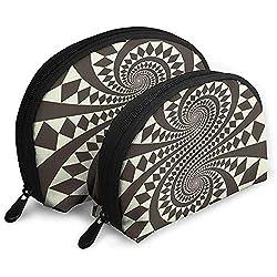 Retro Form Zusammenfassung Tragbare Taschen Make-up Tasche Kulturbeutel, Multifunktions Tragbare Reisetaschen Kleine Make-up Clutch Pouch mit Reißverschluss