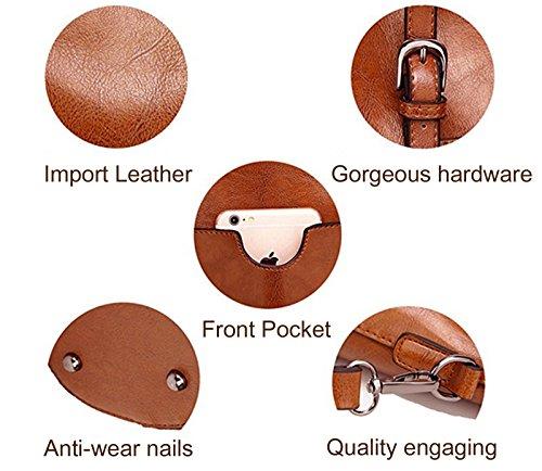 ECOTISH Damero delle donne Vintage spalla del sacchetto con fodera rimovibile Tote Grande Capacità Multifunzione del Sacchetto Marrone