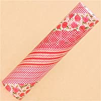 Nastro adesivo decorativo 20cm mt Casa con rose rosse