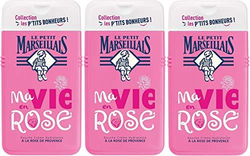 Le Petit Marseillais Douche Crème Hydratante à Rose Provence 250 ml - Lot de 3