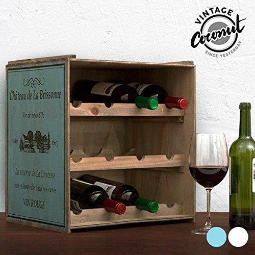 Unbekannt Weinregal (Dunkel) Flaschenregal Regal Weinständer Weinlager Weinschrank Küchenregal Vintage Used Shabby Chic