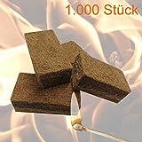 1000 Stück Anzünder Grillanzünder Kaminanzünder Feueranzünder Anzündwürfel für Brennholz Kamin und Ofen