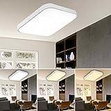 VINGO® 50W LED Deckenleuchte Farbwechsel Wohnraumleuchten Wand-Deckenleuchte Innenleuchte Beleuchtung Ultraslim Licht aus Schlafzimmer Büros Keller