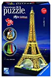 Ravensburger 12579 Tour Eiffel, Night Special Edition, Puzzle 3D Building con LED, 216 Pezzi
