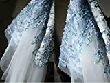 3D Floral Chiffon Stoff 149,9cm Breite für Hochzeit