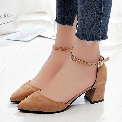 XY&GKSandales femmes Chaussures Femmes Chaussures Baotou, a souligné, le talon et le mollet, le Summer Mode,le meilleur service 37brown