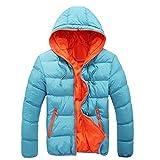 TEBAISE Herren Hooded Jacket Jacke Daunenjacke Isolationsjacke Unisex Winterjacke Wattiert Coat 5 Farben M-3XL