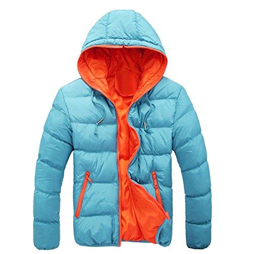 Zolimx cappotto da uomo inverno, piumino invernale autunno giubbotto giacchetta giacca manica lunga felpa con cappuccio elegante piumino giubbotti con cappuccio uomo cappotti impermeabile