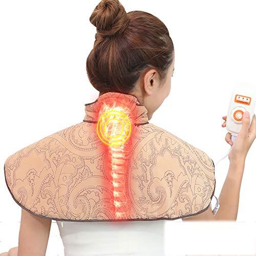 QIYU Heizkissen für Rücken Schulter Nacken, Schneller Heiztechnologie für Entlastung von Rücken und Schultern Heizdecke