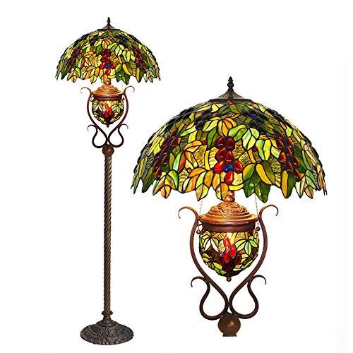 18-Zoll-Tiffany-Stil Stehlampe europäischen retro rose warmes Wohnzimmer Schlafzimmer Esszimmer Buntglas Stehlampe -