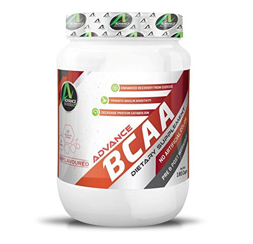 Advance Nutratech BCAA 60 capsules Pre-workout Amino Source Unflavoured with Shaker