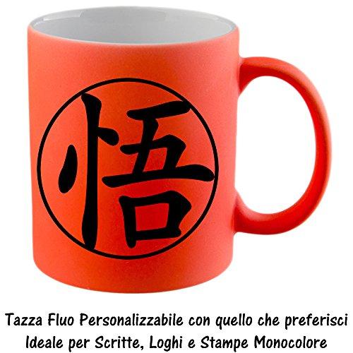 Tazza Arancio Fluo Ceramica Opaca 11oz 325ml Personalizzata con Logo Nome (Grande Cina Tazza Di Caffè)