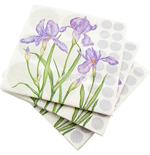 christenings 80 LUXURY 3 PLY LILAC PURPLE LAVENDER BUNCH PATTERN PAPER NAPKINS bbqs etc FREE DELIVERY 33cm x 33cm Ideal for weddings parties
